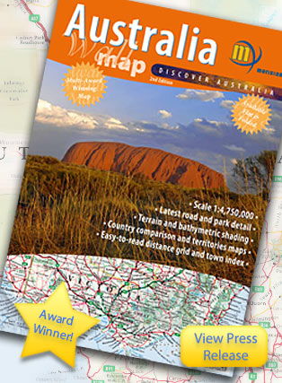 Australia Wall Map Folded Meridian